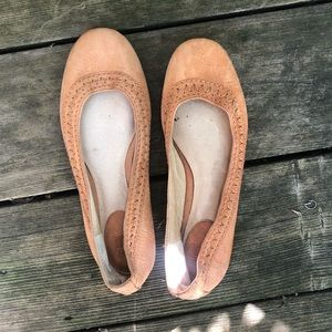 Frye stitch ballet flats tan leather 5.5